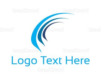 Airspace - Blue Wind logo design