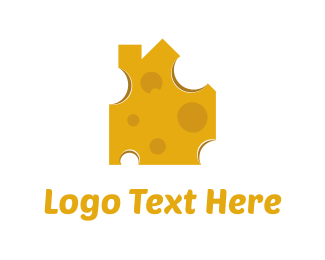 Yellow House - Cheese House logo design