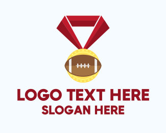 First Place - American Football Medal logo design
