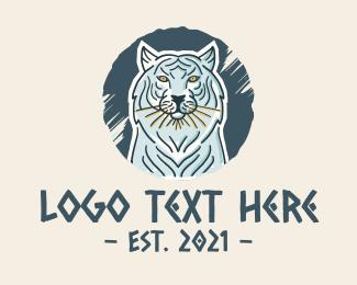 Bengal - White Tiger logo design