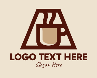 Coffee Maker - Hot Steam Coffee Mug  logo design