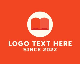 Librarian - Orange Book logo design