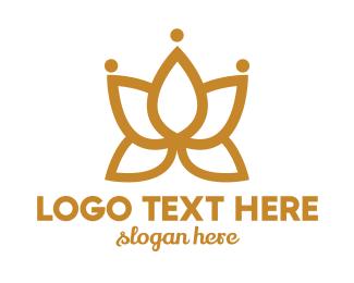 Bouquet - Golden Flower logo design