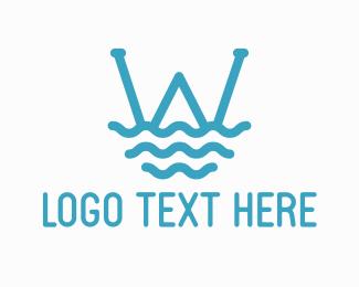 Oceanic - Ocean Wave Letter W logo design