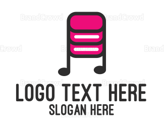 Producer - Music Database logo design