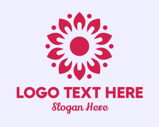 Event Styling - Sunny Pink Flower logo design