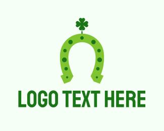 Lucky - Lucky Green Horseshoe logo design