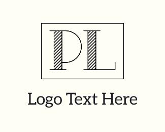 Letter L - P & L logo design