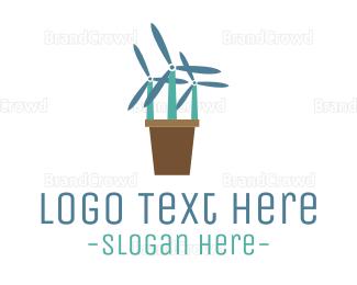 Breeze - Windmill Flowers logo design