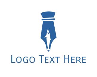 Shark - Pen & Shark logo design