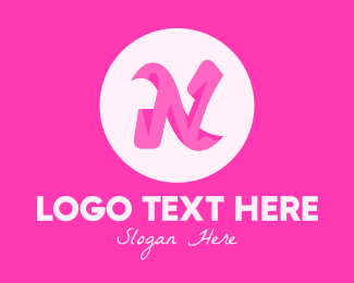Fashion - Pink Fashion Letter N logo design