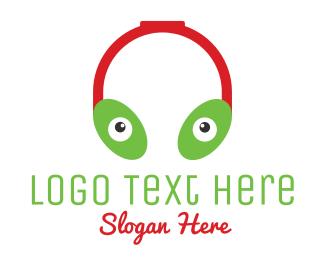 Alien - Alien Headphones logo design