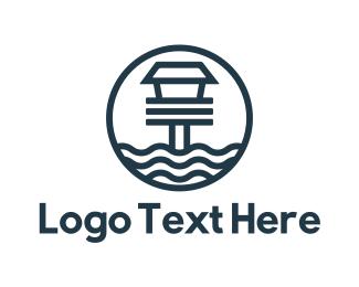 Lighthouse - Blue Beach House logo design