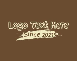 Text - Brush Paint Coffee Wordmark logo design