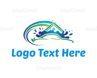 Sanitation - House and Car Cleaning logo design
