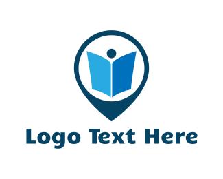 Read - Book Pin logo design