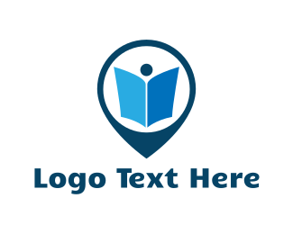 Bookstore - Book Pin logo design