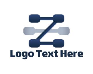 Letter Z - Blue Letter Z logo design