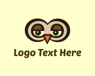 Watching - Eyes Owl logo design
