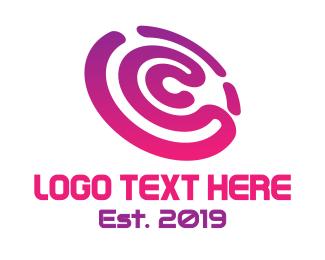 Youtube - Gradient C Disc logo design