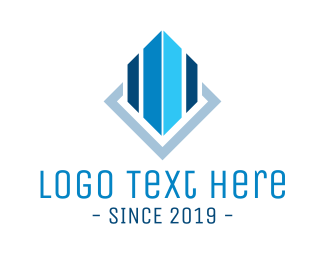 Construction - Blue Building logo design