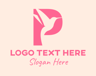 Cosmetology - Gradient Hummming Bird Letter P logo design