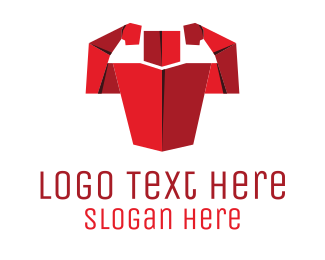 Gym - Origami Muscles logo design