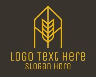 Arch - Orange Wheat Arch logo design
