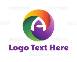 Photographer - Colorful Letter A logo design
