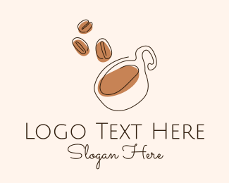 Bean - Artisanal Coffee Bean Cafe logo design