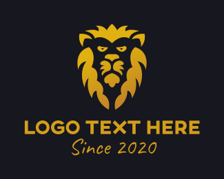 Jungle Animal - Gold Lion logo design