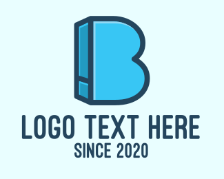Dictionary - Blue Book Letter B logo design