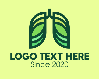 Lung Doctor - Green Respiratory Lungs logo design