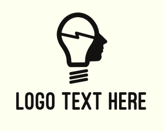 Student - Lamp Man logo design