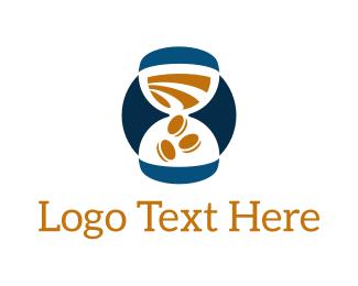 Coin - Hourglass Time Money Coin logo design