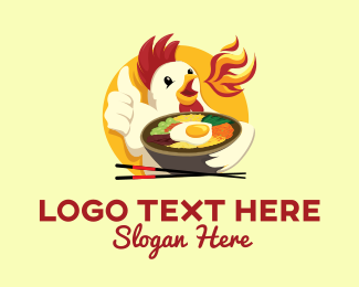 Noodles - Chicken Bowl logo design