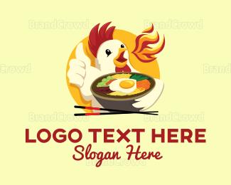 Chopstick - Chicken Bowl logo design