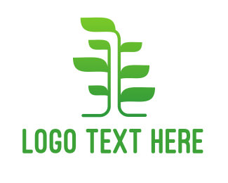Tree - Green Vine Tree logo design