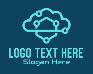 Cloud Service - Digital Cloud Company logo design