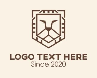 Shield - Lion Shield logo design