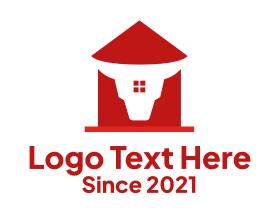Real Estate - Minimalist Bull Head House logo design