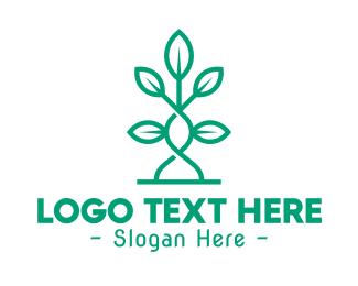 Plant - Vine Plant Leaves logo design