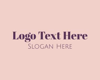 Lawyer - Classic Purple Text logo design