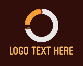 Nicotine - Cigarette Circle logo design