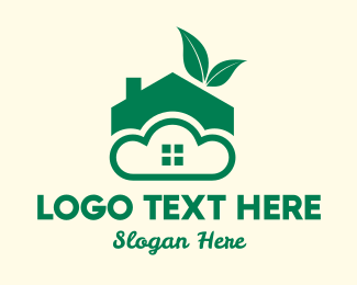 Eco Friendly - Eco Friendly Cloud Home logo design