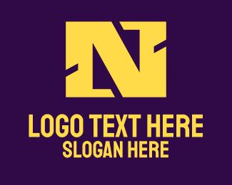 Letter N - Red Square Letter N logo design