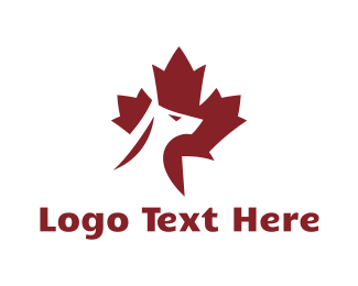 Pet Groomer - Red Canadian Dog logo design