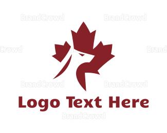 Canadian - Red Canadian Dog logo design