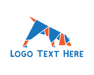 Beagle - Origami Dog logo design