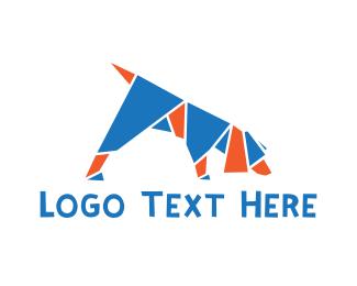 Mosaic - Origami Dog logo design